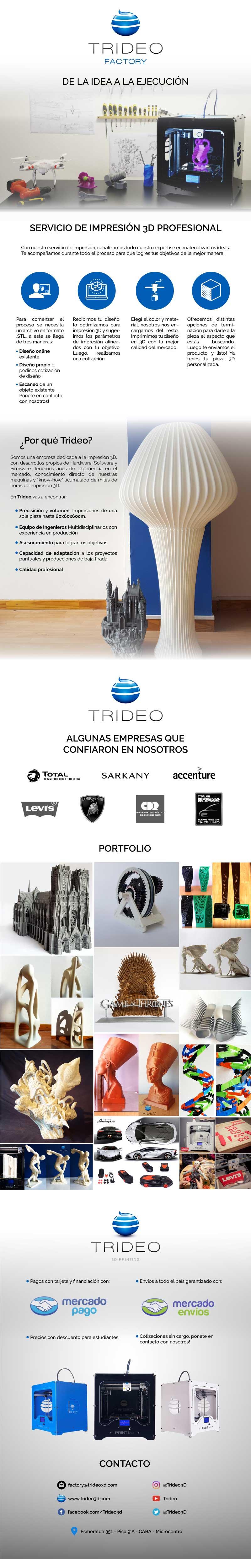 Servicio de Impresión 3D Profesional - Trideo